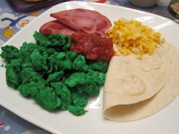 Green eggs and ham (Tex-Mex)