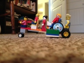 LEGO. Always LEGO. Thing 2 built this accessible vehicle. She also took this photo.