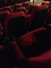 We practically had the theatre to ourselves!