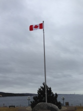 Look at the beautiful new flag at DeWolf Park. I love that we were heard! O Canada!
