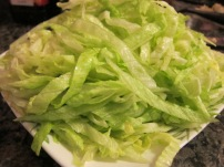 Crisp, fresh iceberg lettuce.