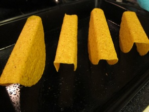 Taco shells. Always heat them like this! Trust me.
