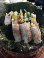Look at these salad rolls. Yum!