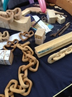 How cool is this chain carved from a single piece of wood?