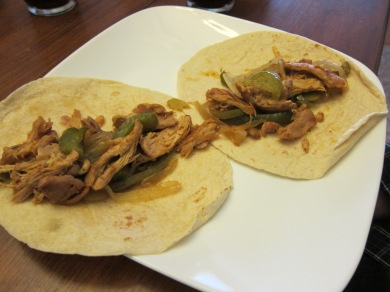 Here are Daddy-O's fajitas before being dressed.