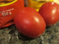 Roma tomatoes. Trust me. So good!