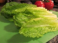 "Romaine lettuce ""hearts"". This was some of the best lettuce we have ever had. So fresh!"