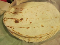 Soft tortillas for the burritos. They are very good according to the tortilla eaters.