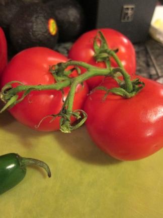 Vine tomatoes.
