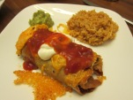 My Gluten free Chimichanga.