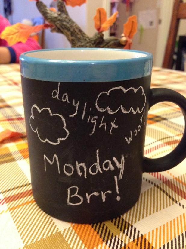 Chalkboard mugs are very happy-making!