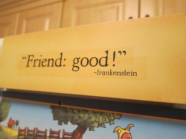 Bread bad! Friend good!