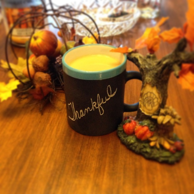 coffee cup thankful Thanksgiving Fall decor