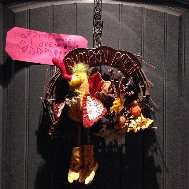 Pumpkin Patch turkey thanksgiving wreath